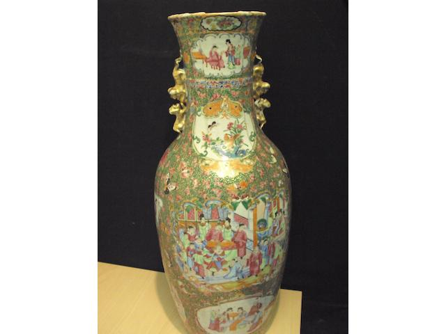 A large Chinese Canton famille rose vase