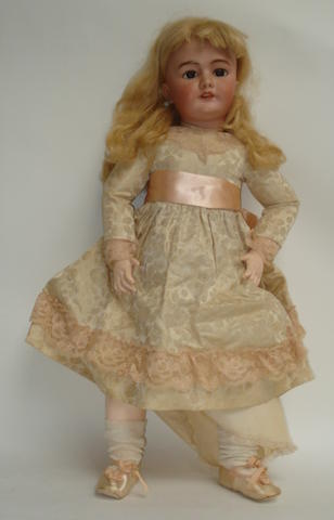 Large DEP bisque head doll