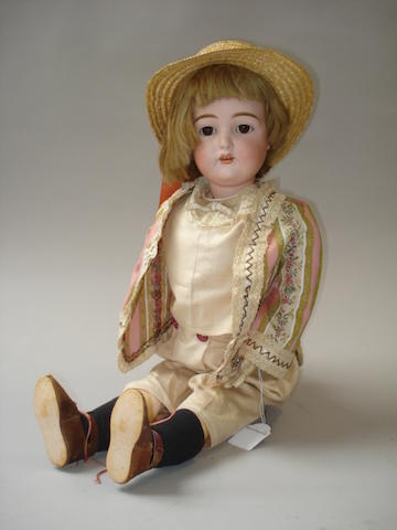 Large Kestner 192 bisque head doll