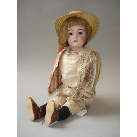Large Kestner 192 bisque head doll