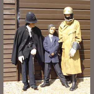 A trio of mannequins suitable for museum display,