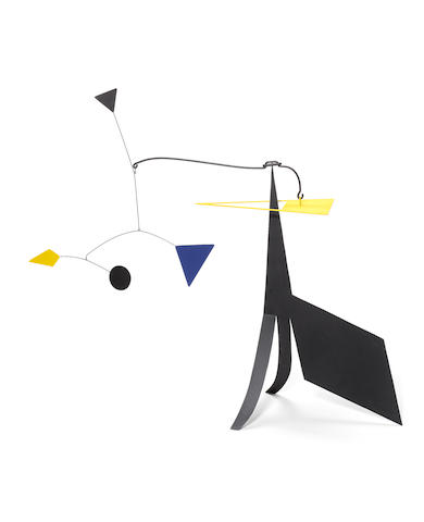 Manuel Marin (1942-2007) Untitled  painted steel mobile sculpture  Height of base: 80 cm. 31 1/2 in.