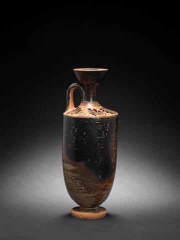 An Attic black glazed lekythos
