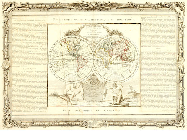 WORLD DE L'ISLE (GUILLAUME) Mappe-monde, 1778; and 2 others (3)