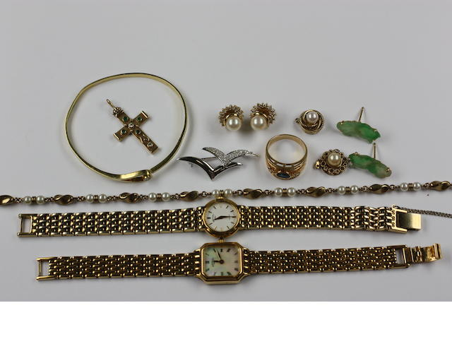 Assorted jewellery and watches,