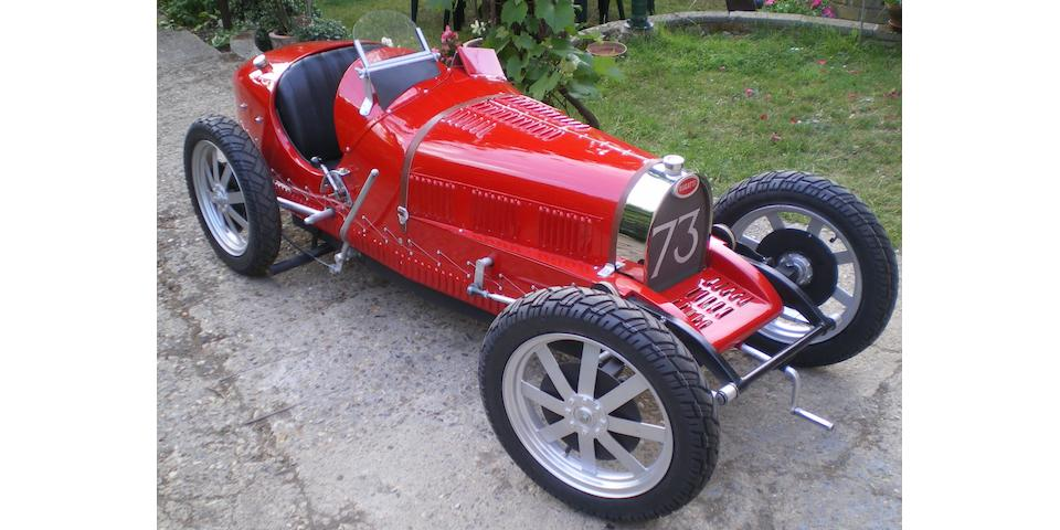 A half scale model of a 1926 Bugatti type 35B,