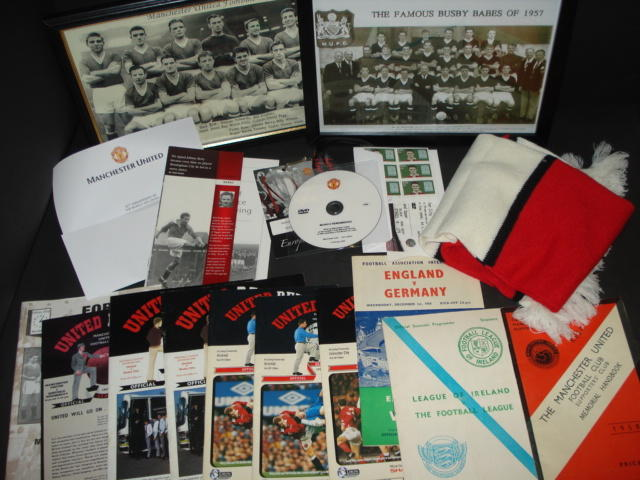 A collection of Busby Babes/Munich memorabilia