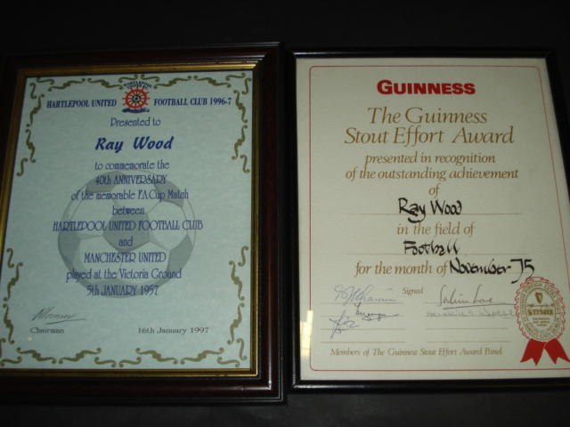 Certificates presented to Ray Wood