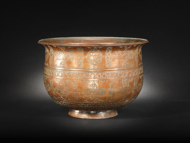 A Safavid tinned-copper Bowl