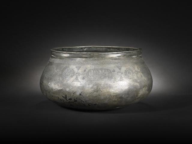 A Mamluk tinned-copper Bowl Egypt or Syria, 15th Century