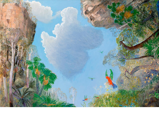 William Robinson (born 1936) Clouds and Parrots, Carnarvon 2005