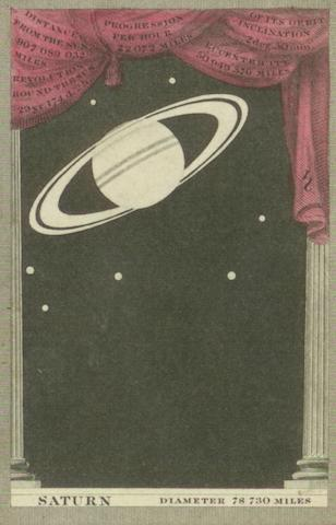 """An """"Astronomia"""" card game, by F. G. Moon, 1829,"""