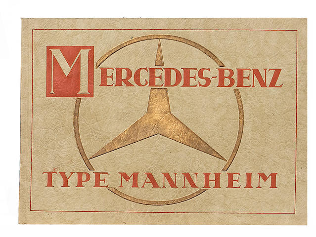 A Mercedes-Benz Type Mannheim sales brochure, dated May 1930,