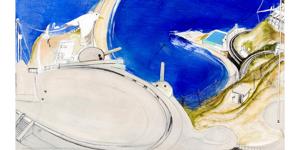 Brett Whiteley (1939-1992) Nobby's Head and the Entrance to Newcastle 1991