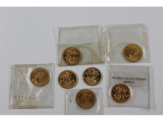 Seven full sovereigns,