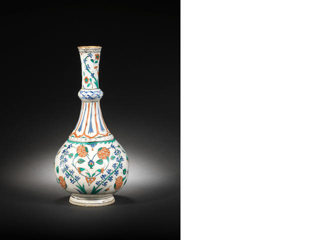 Iznik vase, Turkish, circa 1575, 37 cm h