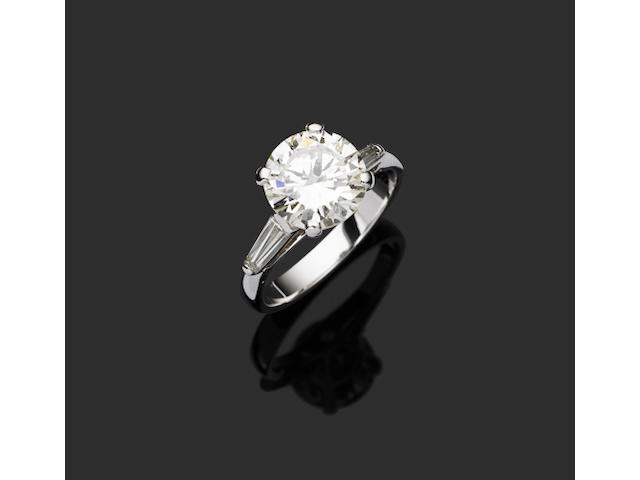 A 3.24 carat solitaire diamond ring