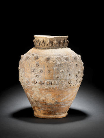 An Islamic Medieval grey ware jar