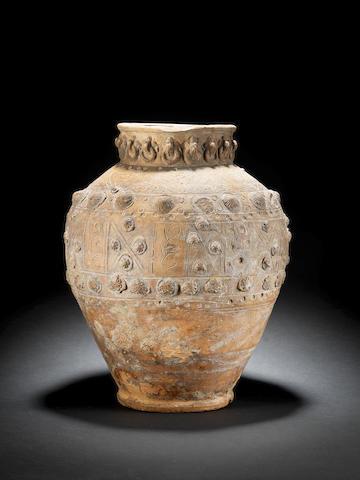 An Islamic Medieval grey ware jar