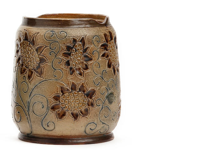 A Martin Brothers stoneware vase  Dated 1880