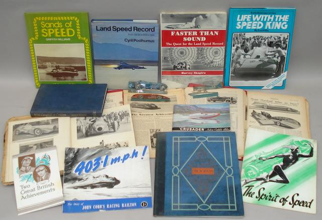 A good lot of Speed Record related literature,