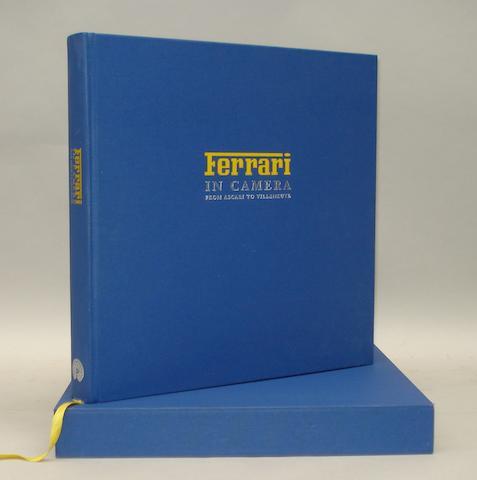 Geoffrey Goddard: Ferrari in Camera - From Ascari to Villeneuve; published by Palawan Press,