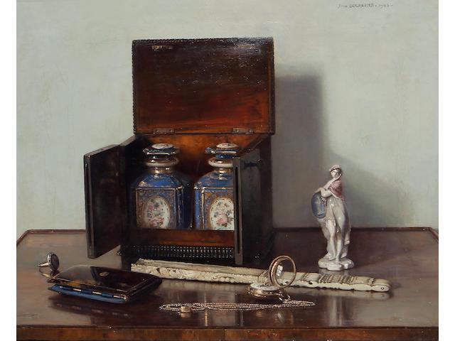 Jan Bogaerts (Dutch, 1878-1962) Still life with tea caddy