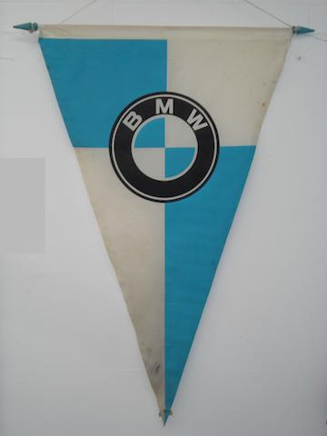 A large BMW pennant,