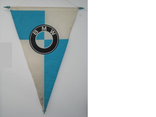 A large BMW pennant