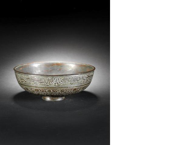 A Safavid tinned-copper Bowl
