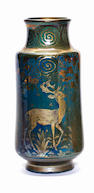 Richard Joyce for Pilkington Royal Lancastrian A Vase with Stags, 1917