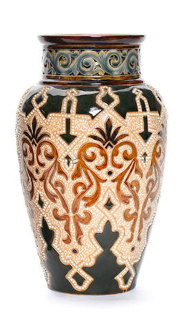 An Iznik inspired vase, Frank Butler for Doulton Lambeth Circa 1890