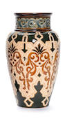 Frank Butler for Doulton Lambeth  an Iznik Inspired Vase, circa 1890