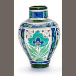 William Rowe (attributed) for Doulton Lambeth a Persian Ware Vase, circa 1920