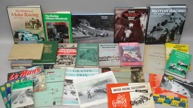 Books relating to historic motor racing,