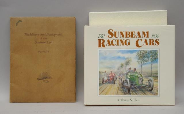 A brochure for 'The History and Development of the Sunbeam Car 1899-1924',