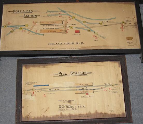 Two Great Western signal box diagrams