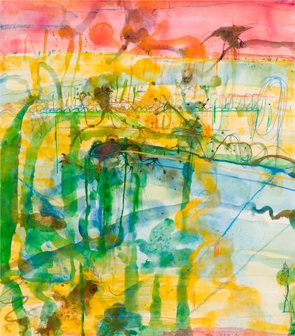 John Olsen (born 1928) Sunset at the Lily Pond 1996