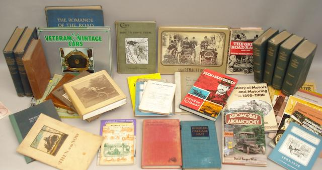 Assorted books relating to early, veteran and vintage motoring,
