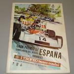 A signed 1973 Spanish Grand Prix programme,