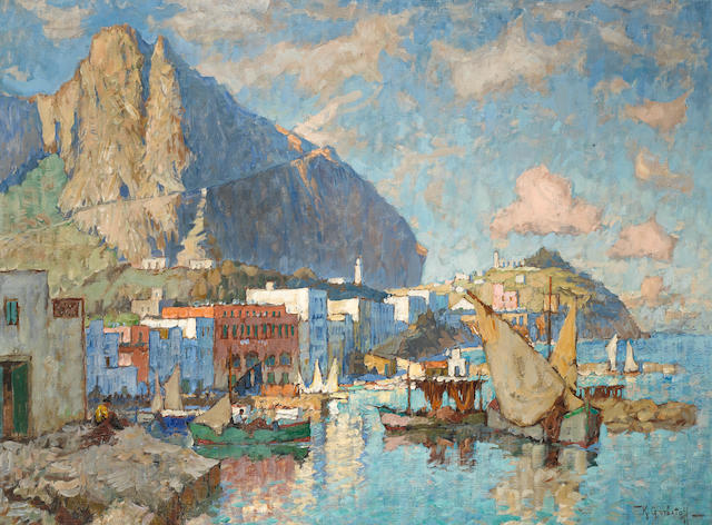 K Gorbatov - Capri, oil on canvas