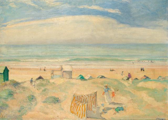Henri Lebasque (1865-1937) La plage de Saint-Jean-de-Monts