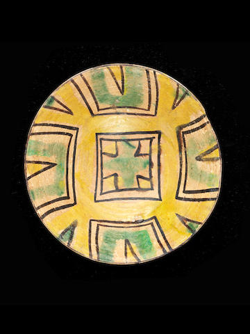 A Nishapur geometric pottery bowl 9th century