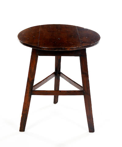 A 19th Century sycamore and pine cricket table