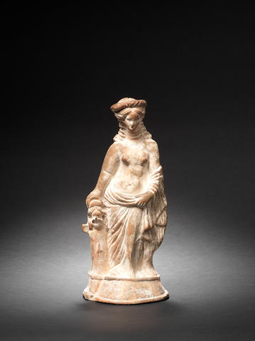 A Hellenistic terracotta figure of a woman