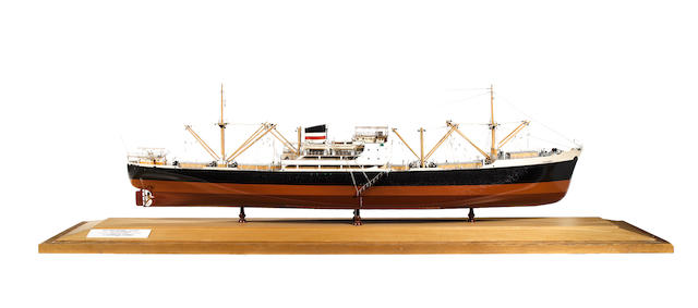 A Builder's Model of the MV Diplomat 1953 68.5x17x25.5ins. (174 x 43 x 65cm)