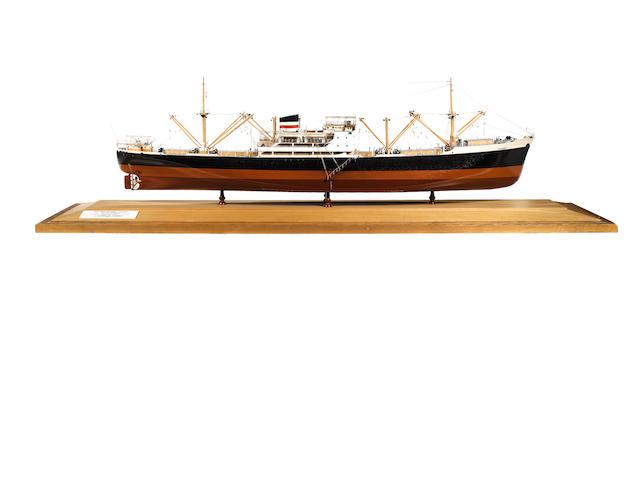 A Builder's Model of the MV Diplomat 1953 68.5x17x25.5in. (174 x 43 x 65cm)
