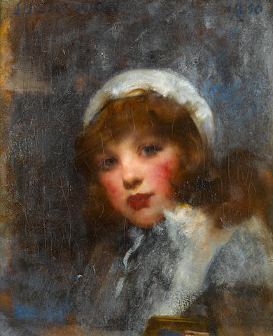 Sir James Jebusa Shannon RA, RBA, RHA (British, 1862-1923) Off to school