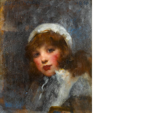 Sir James Jebusa Shannon RA, RBA, RHA (British, 1862-1923) Portrait of a girl, possibly daughter Kitty