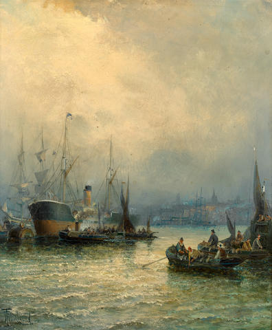 Hubert Anslow Thornley (British) 'On the Thames'; 'On the Medway'